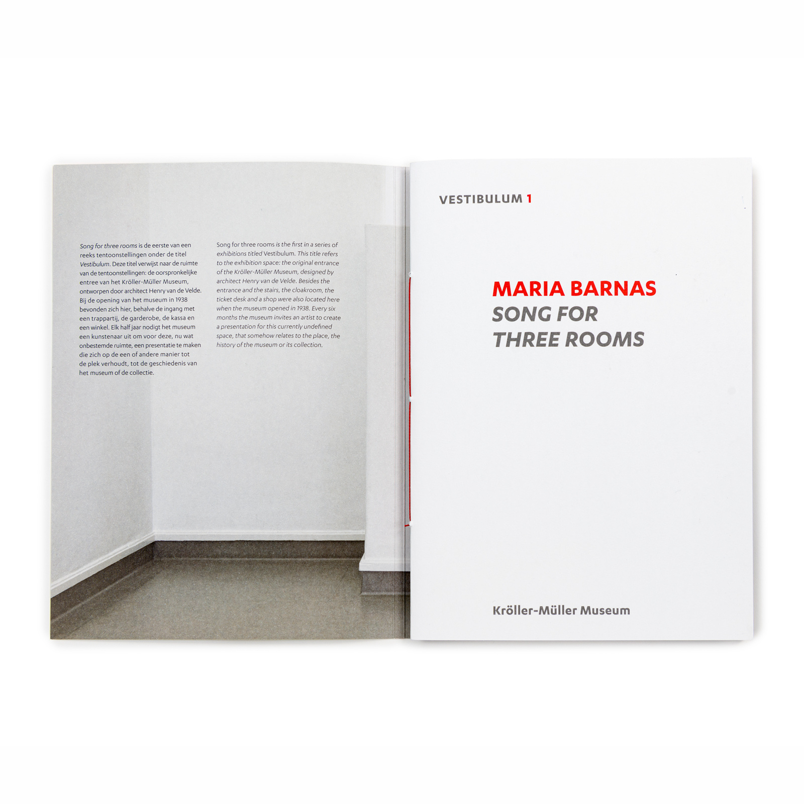 Maria Barnas. Song for three rooms
