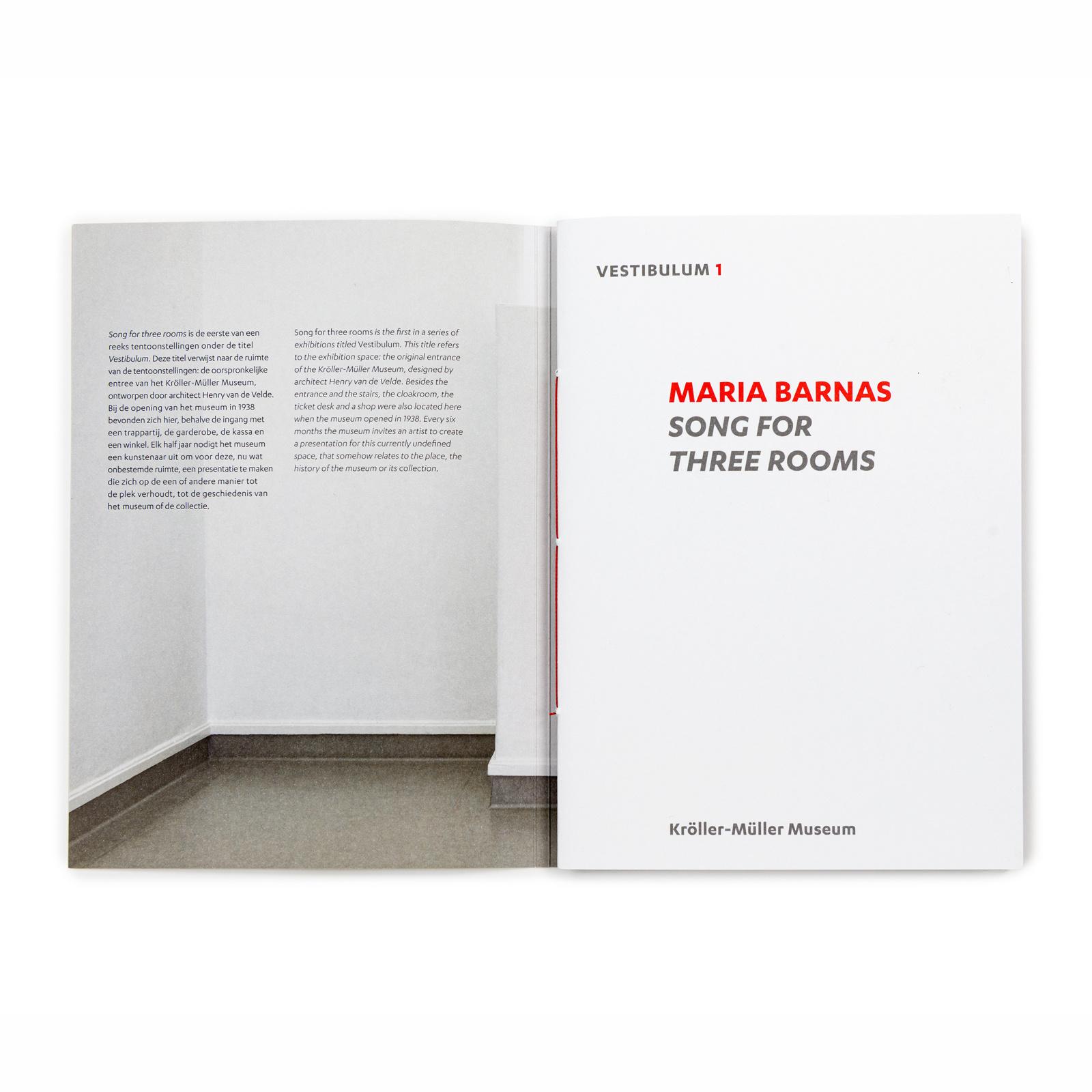 Vestibulum 1: Maria Barnas - Song for three rooms