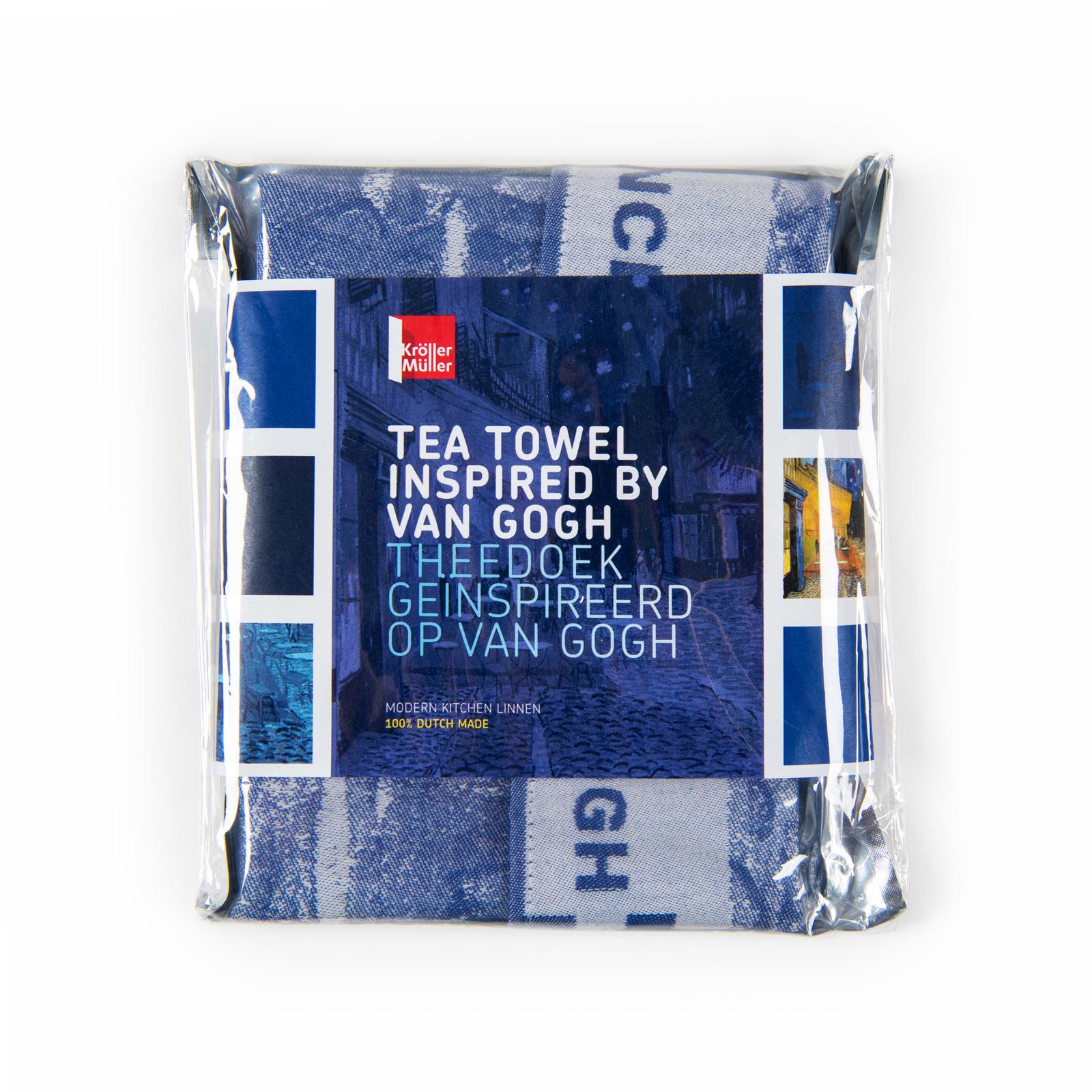 Tea towel Van Gogh Terrace of a café at night