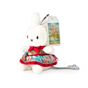 Miffy keyring with Van Gogh print