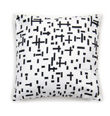 Cushion cover Mondriaan white