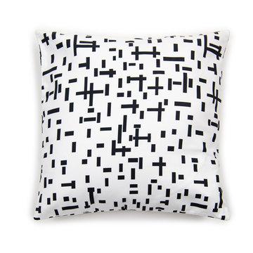 Witte kussenhoes kopen met Mondriaan print