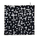 Kussenhoes Mondriaan zwart