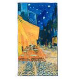 Badlaken Van Gogh Caféterras bij nacht