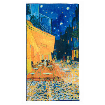 Bath towel Van Gogh Terrace of a café at night