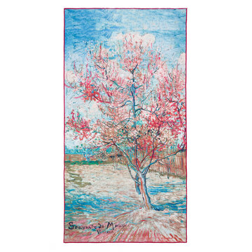 Bath towel Van Gogh Pink peach trees