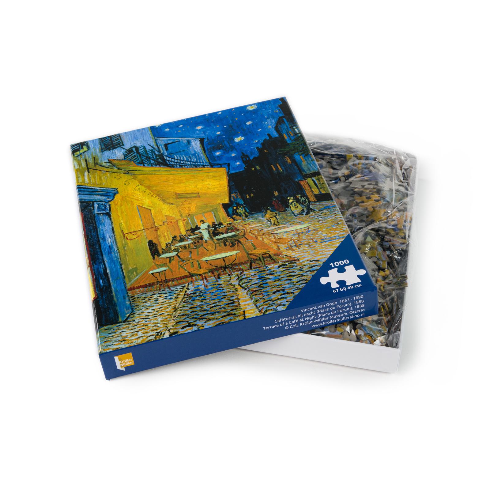 Puzzel Van Gogh  Caféterras bij nacht