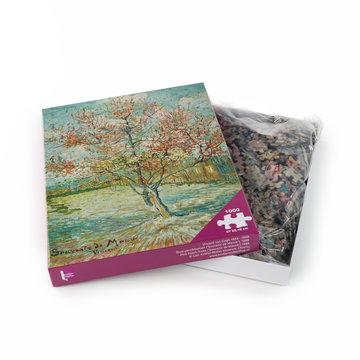 Van Gogh puzzel - Roze perzikbomen