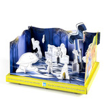 Cut-out model for children: Swan and her friends