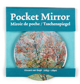 Pocket Mirror - Pink peach trees