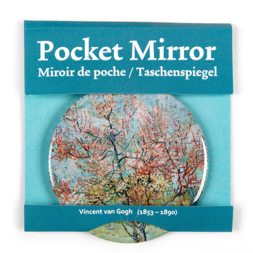 Pocket Mirror - Pink peach trees