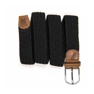 Belt with leather black