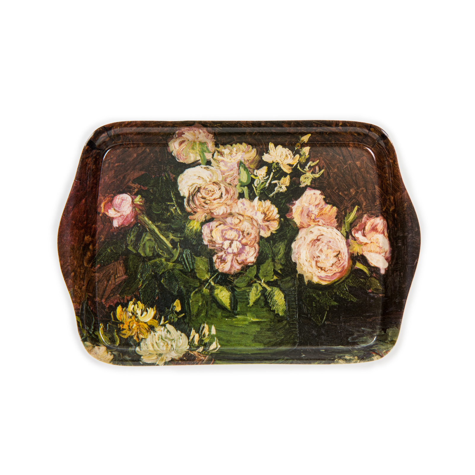 Mini Serving Tray - Roses and peonies