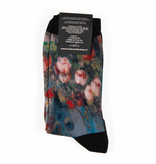 Van Gogh socks - Still life with meadow flowers and roses
