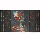 Sjaal chiffon Van Gogh Akkerbloemen en rozen