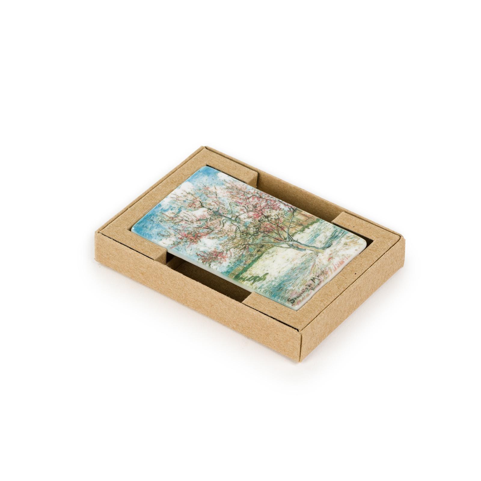 Koelkast magneet Van Gogh - Roze perzikbomen