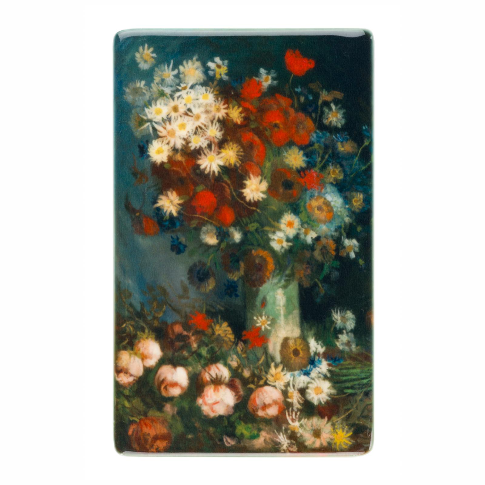 Koelkast magneet Van Gogh Akkerbloemen en rozen