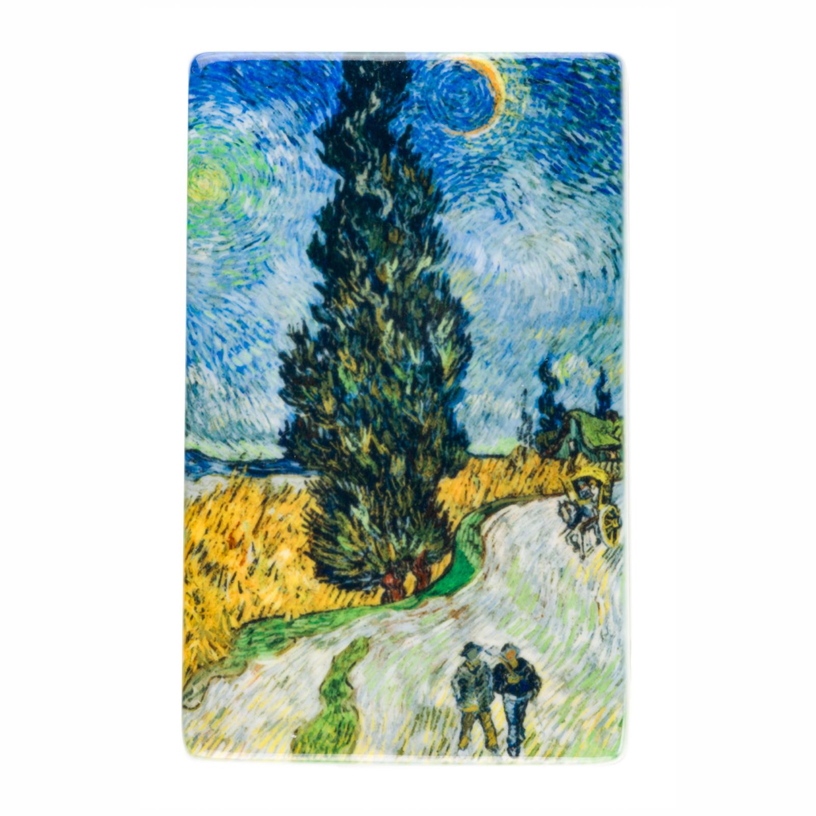 Koelkast magneet Van Gogh Landweg in de Provence bij nacht