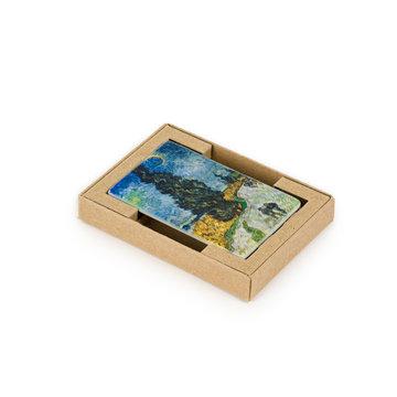 Koelkast magneet Van Gogh - Landweg in de Provence bij nacht