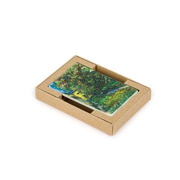 Koelkast magneet Van Gogh - De tuin van de inrichting in Saint-Rémy