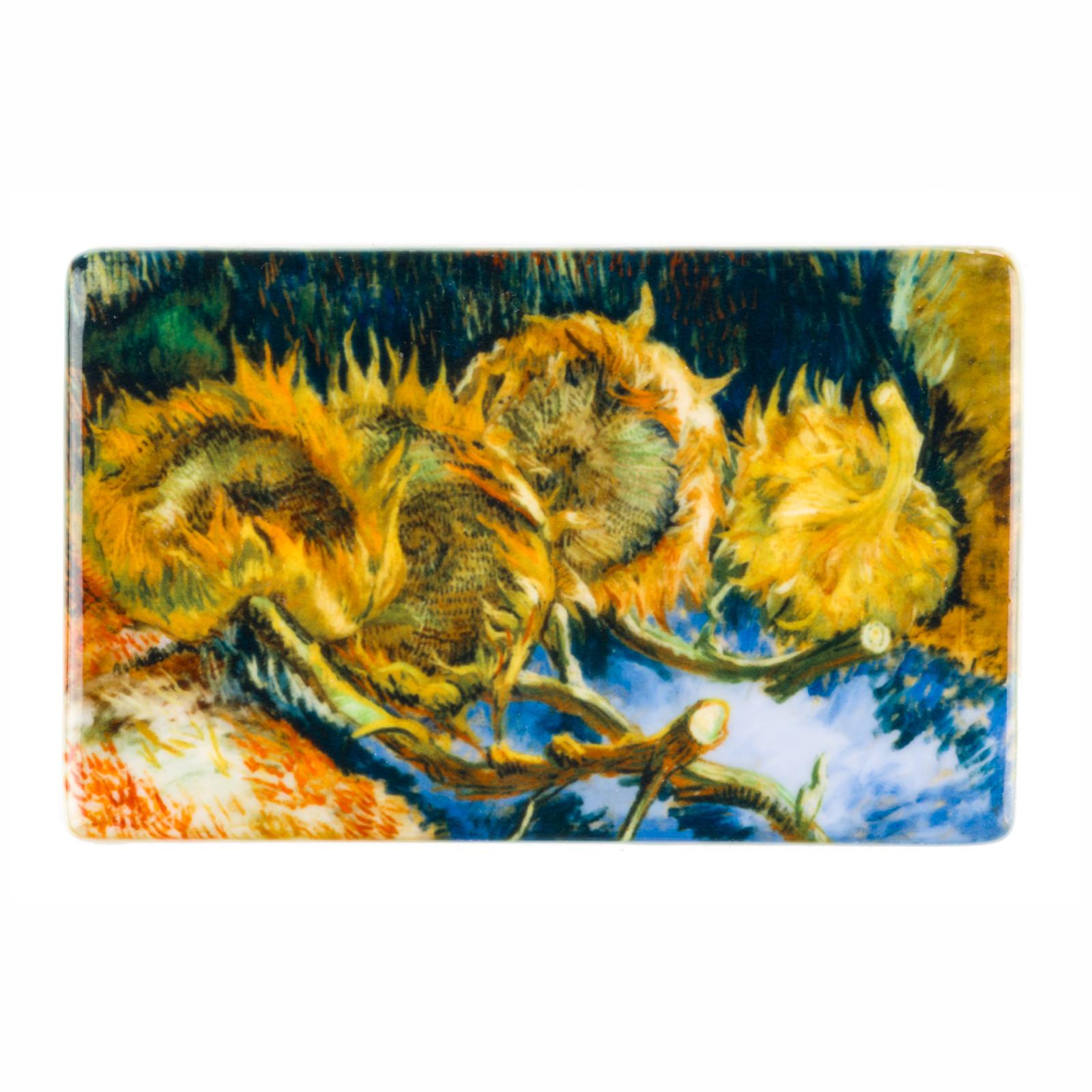 Koelkast magneet Van Gogh Vier uitgebloeide zonnebloemen