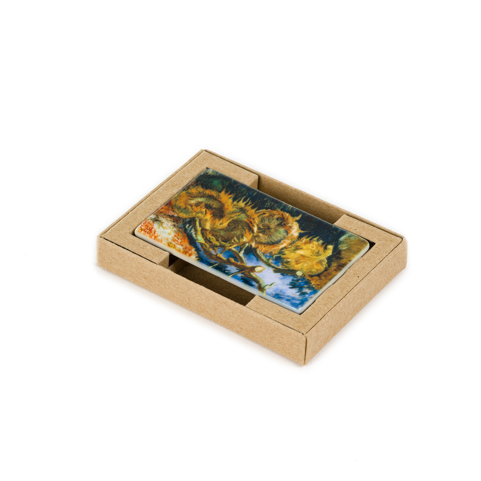 Koelkast magneet Van Gogh - Vier uitgebloeide zonnebloemen