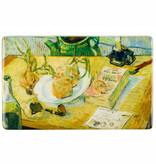 Koelkast magneet Van Gogh Stilleven rond een bord met uien