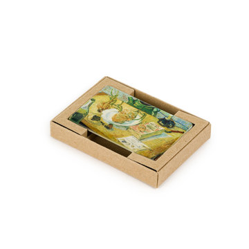 Koelkast magneet Van Gogh - Stilleven rond een bord met uien