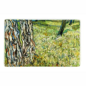 Fridge magnet Van Gogh Tree trunks in the grass