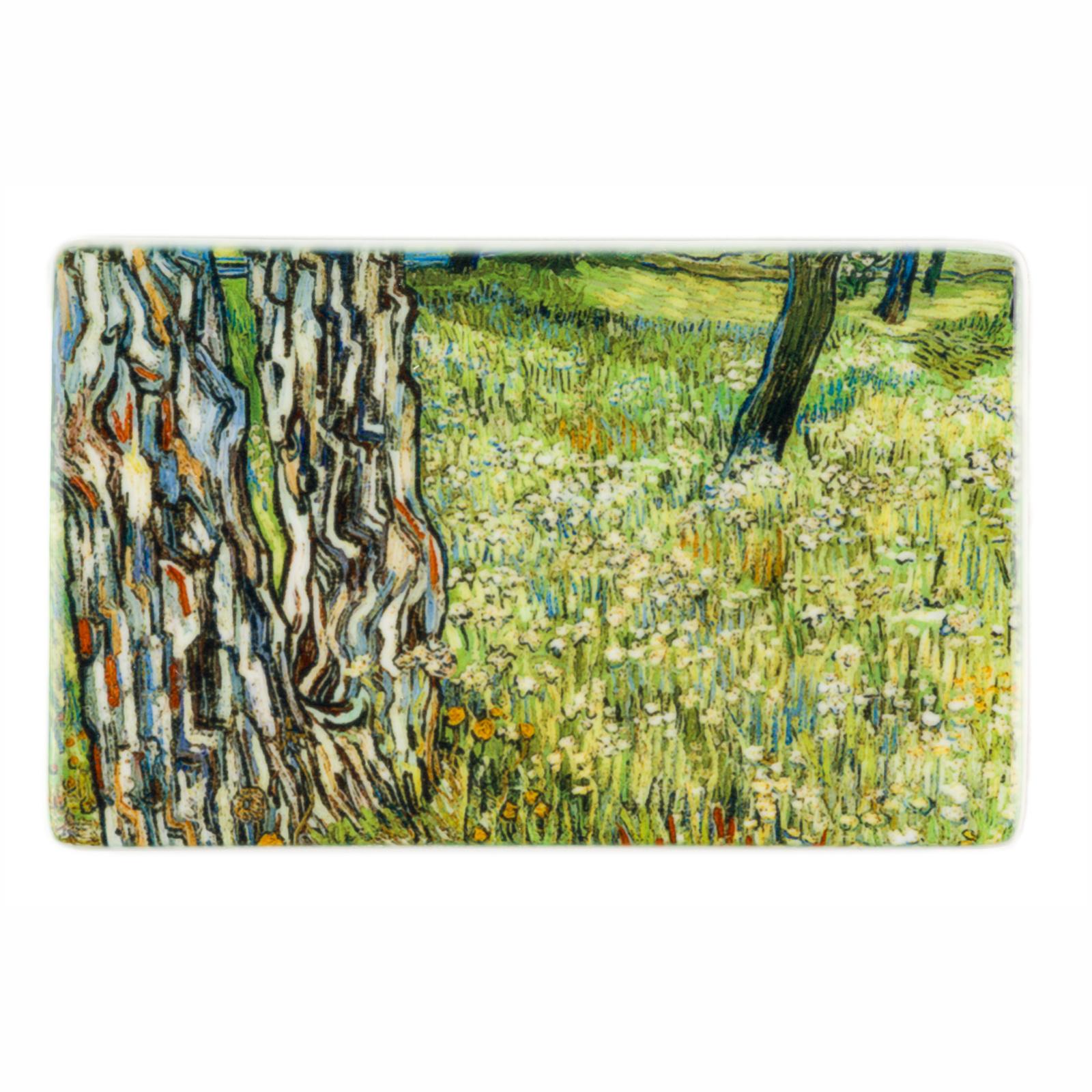 Koelkast magneet Van Gogh - Boomstammen in het gras