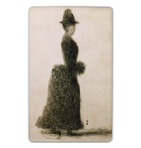 Fridge magnet Seurat Lady with a muff