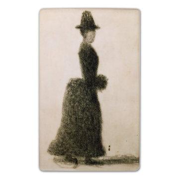 Koelkast magneet Georges Seurat - Femme au manchon