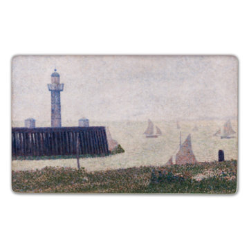 Fridge magnet Georges Seurat - Harbour entrance at Honfleur
