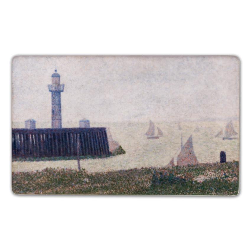 Koelkast magneet Georges Seurat - Bout de la jetée à Honfleur