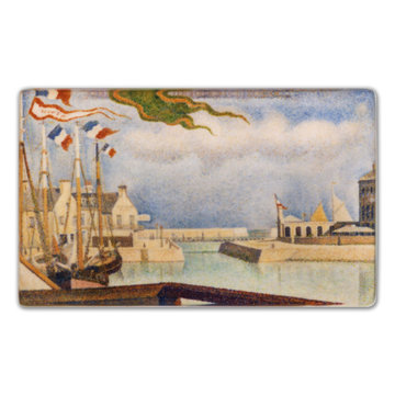 Koelkast magneet Georges Seurat - Port-en-Bessin, un dimanche