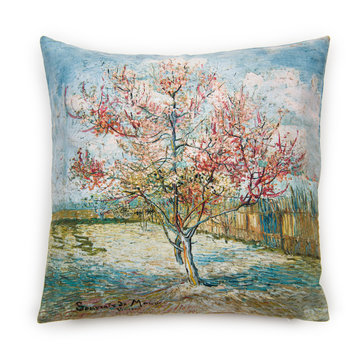 Cushion cover Van Gogh Pink peach trees