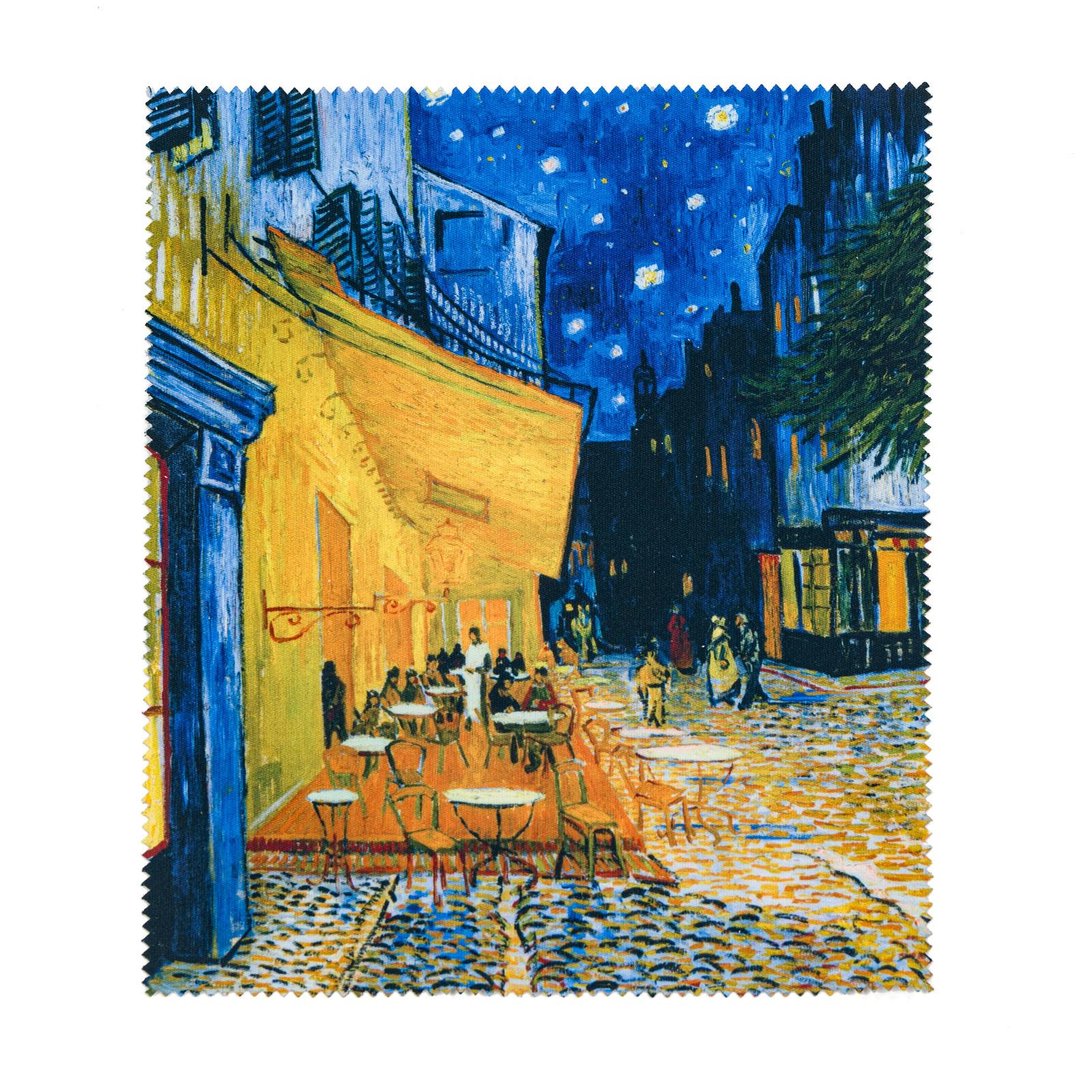 Brillendoekje Van Gogh Caféterras bij nacht