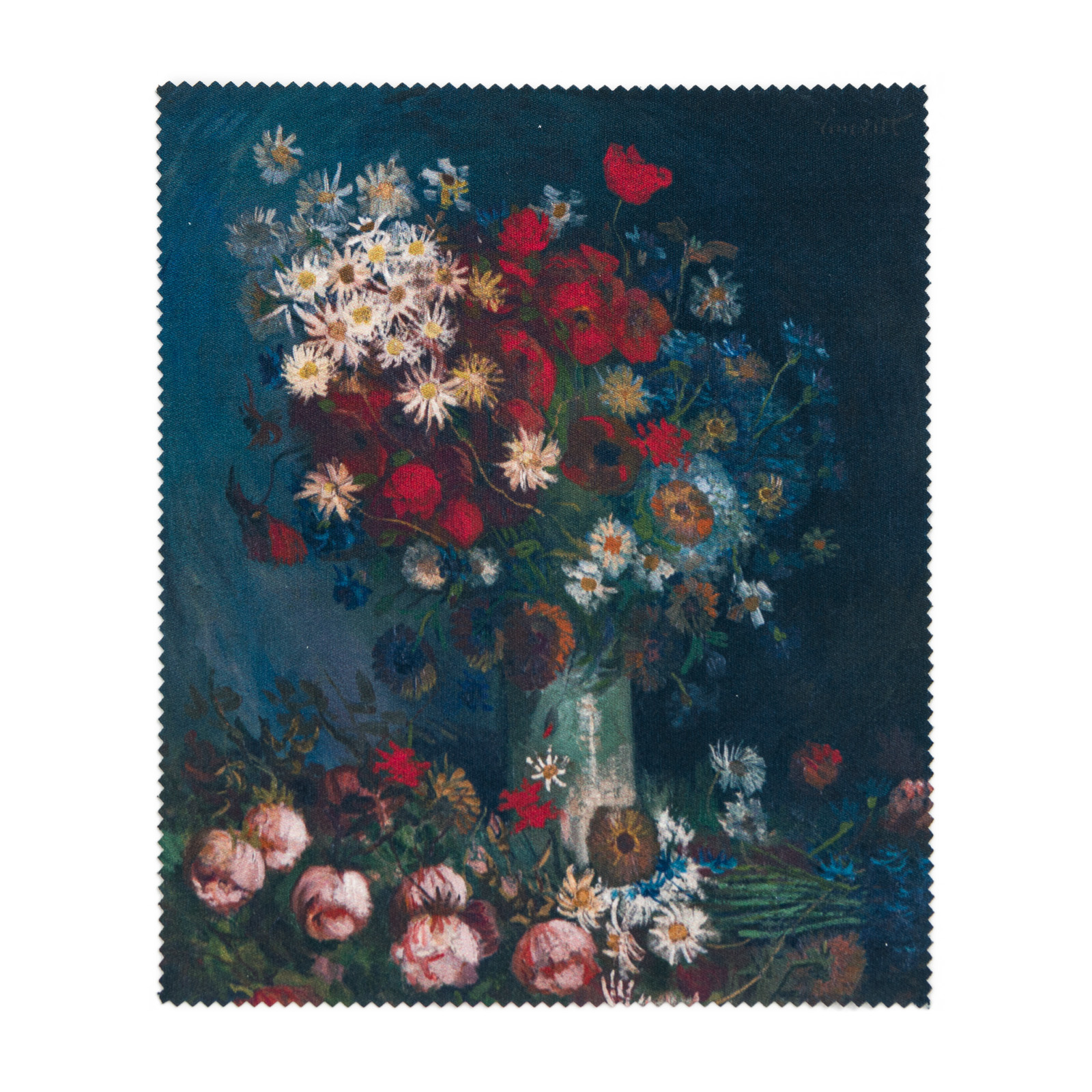 Lens cloth Van Gogh Meadow flowers and roses
