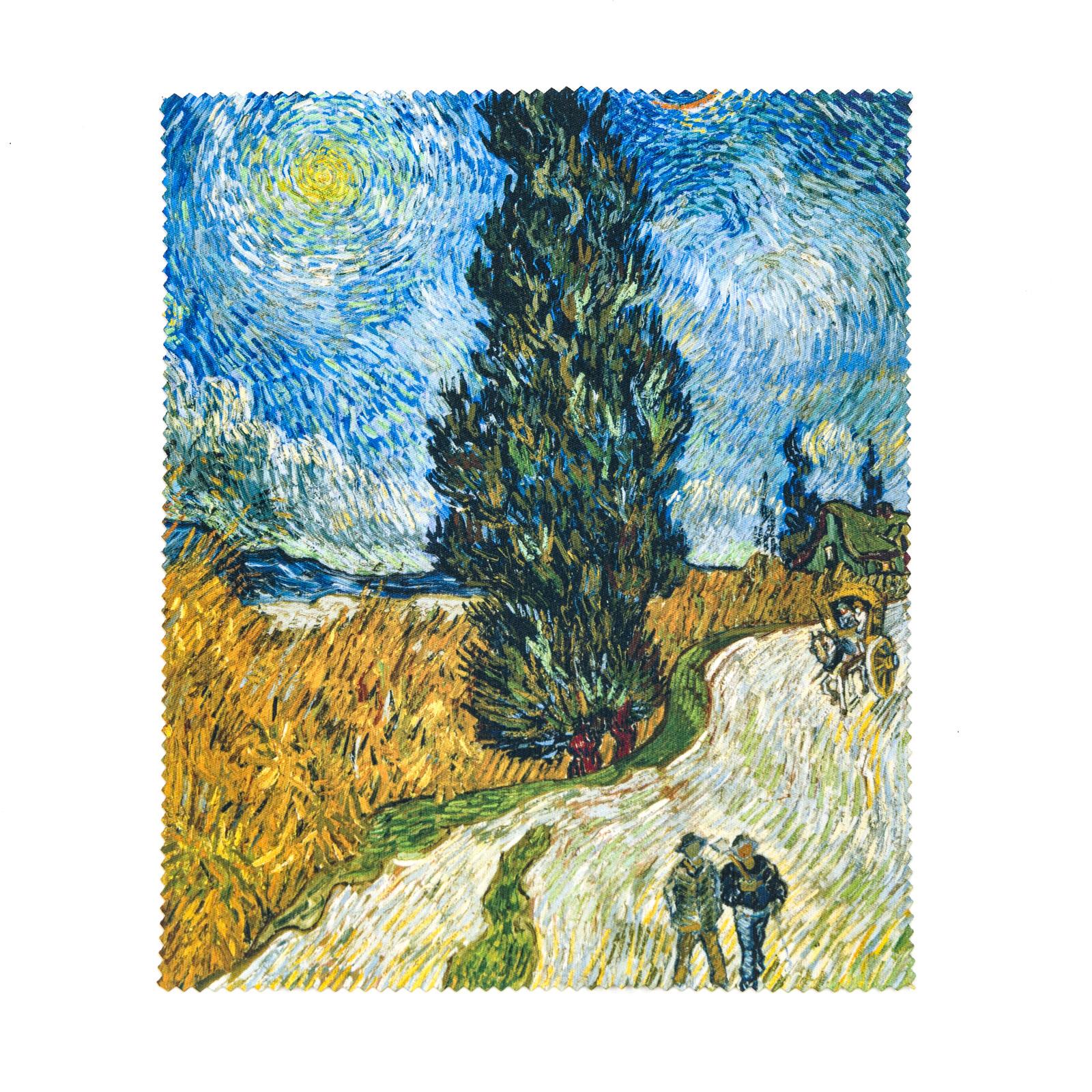 Brillendoekje Van Gogh Landweg in de Provence bij nacht