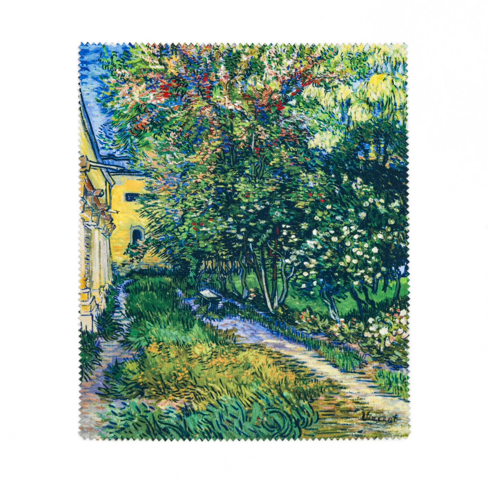 Brillendoekje Van Gogh - De tuin van de inrichting in Saint-Rémy