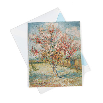Double card Van Gogh Pink peach trees