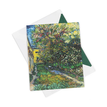 Double card Van Gogh - The garden of the asylum at Saint-Rémy
