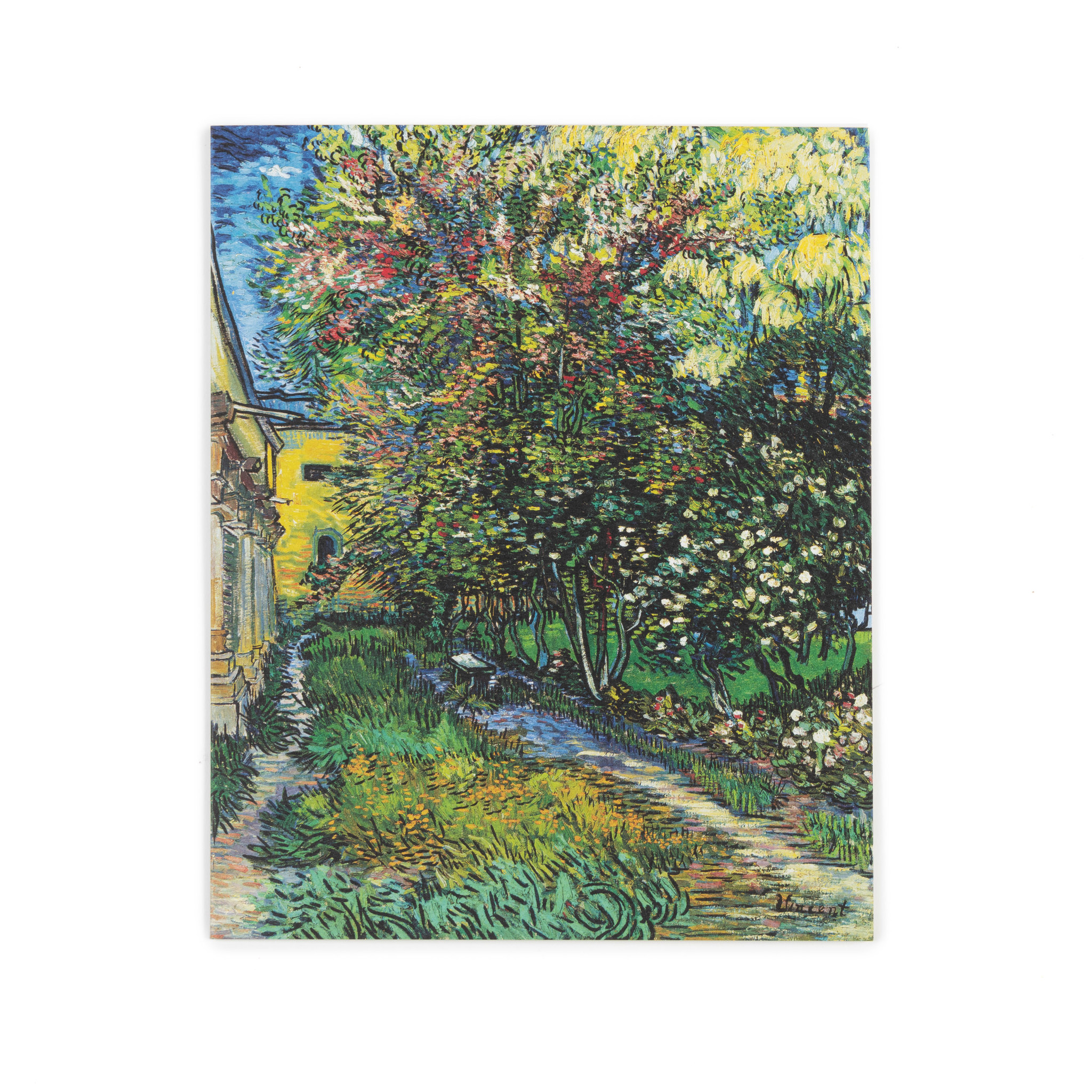 Double card Van Gogh The garden of the asylum