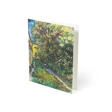 Dubbele kaart Van Gogh - De tuin van de inrichting in Saint-Rémy