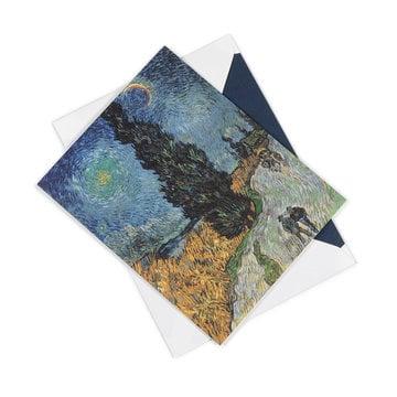 Dubbele kaart Van Gogh Landweg in de Provence bij nacht