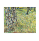 Double card Van Gogh - Tree trunks in the grass