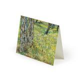 Dubbele kaart Van Gogh Boomstammen in het gras