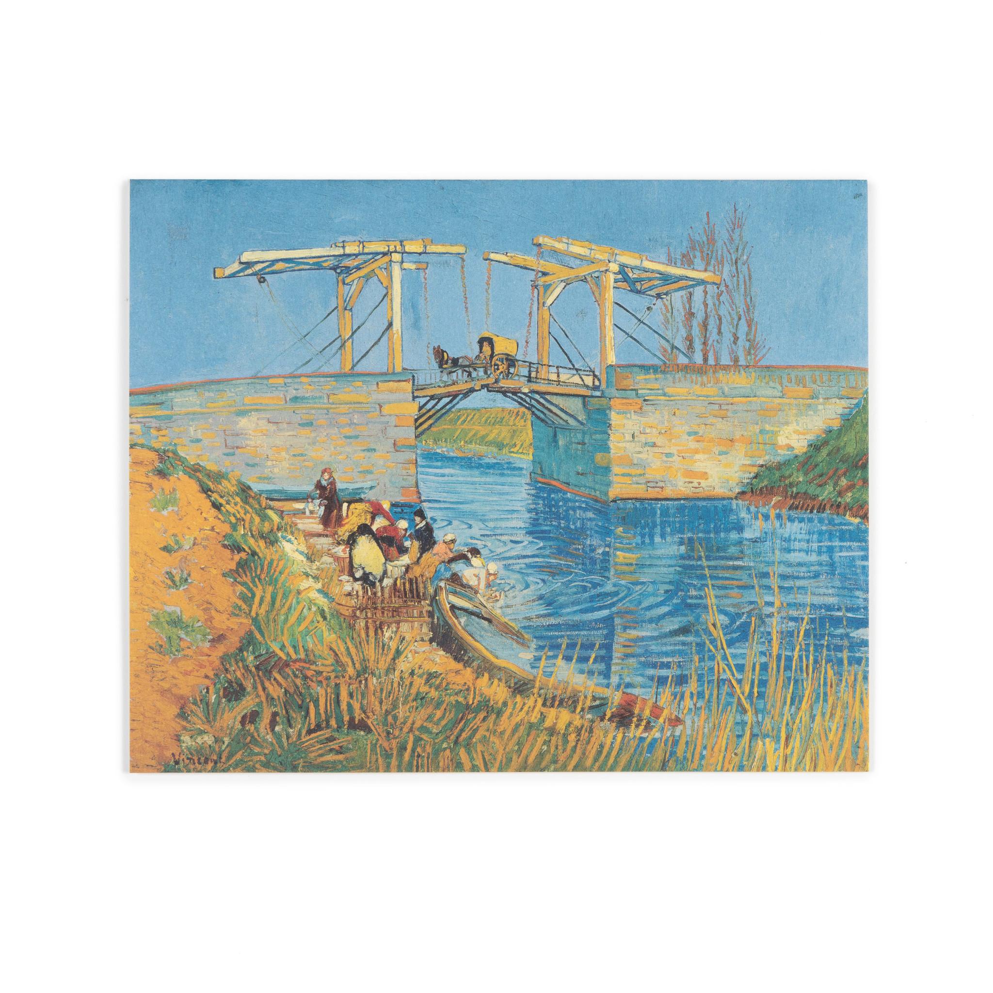Dubbele kaart Van Gogh - Brug te Arles