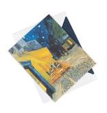 Double card Van Gogh - Terrace of a café at night