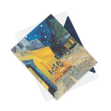 Dubbele kaart Van Gogh Caféterras bij nacht